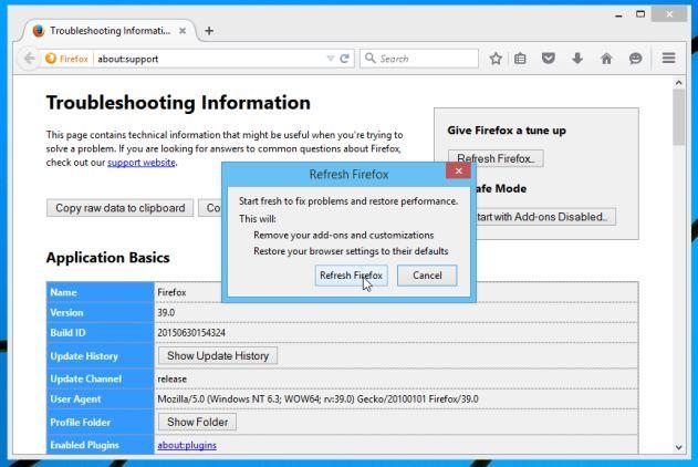 Reset Mozilla Firefox 2