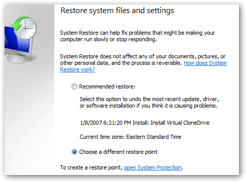 restore1files and setings