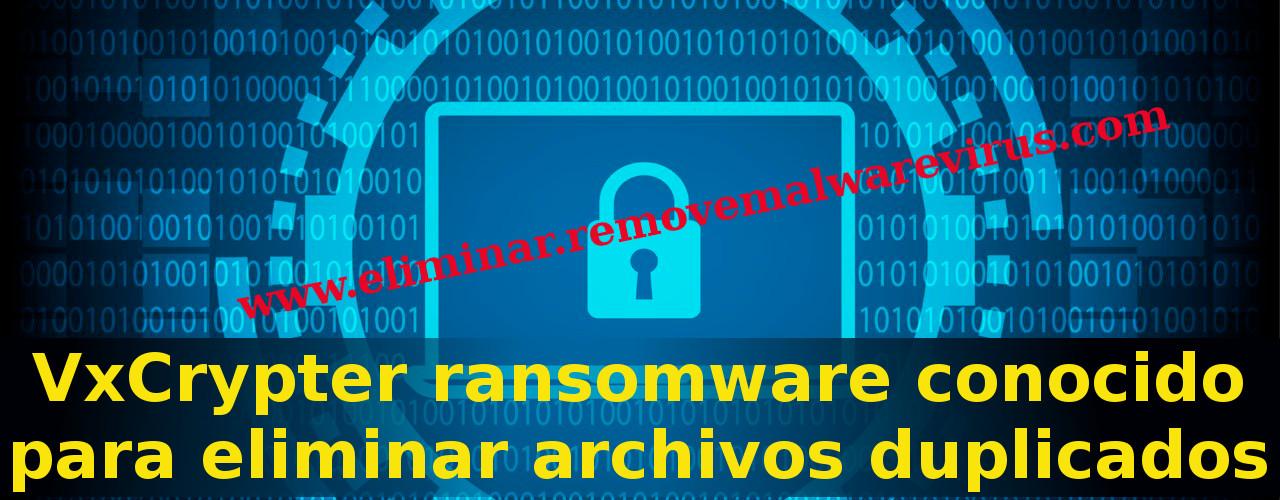 Eliminar VxCrypter Ransomware